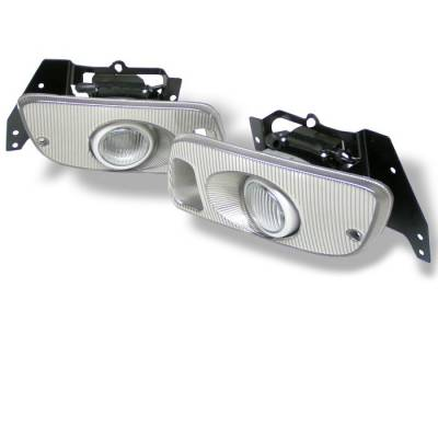 Spyder - Honda Civic 2DR & 3DR Spyder OEM Fog Lights - Clear - FL-HC92