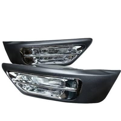 Spyder - Honda CRV Spyder OEM Fog Lights with Cover - Chrome - FL-HCRV02-C