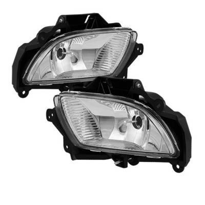 Spyder - Hyundai Sonata Spyder OE Style Fog Lights - Clear - FL-HYS09-C