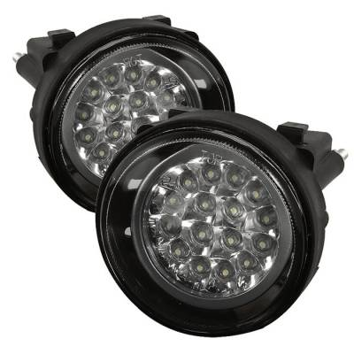 Spyder - Dodge Neon Spyder LED Fog Lights - Clear - FL-LED-DN03-C