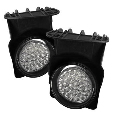 Spyder - GMC Sierra Spyder LED Fog Lights - Clear - FL-LED-GS03-C