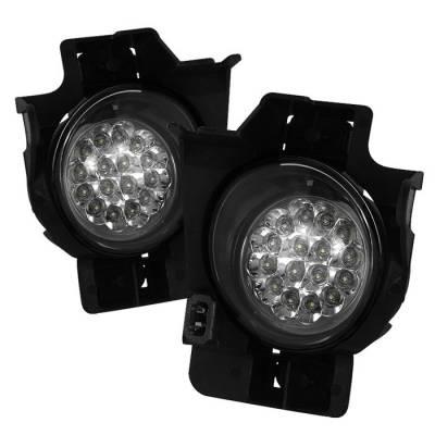 Spyder - Nissan Altima Spyder LED Fog Lights - Clear - FL-LED-NA08-2D-C