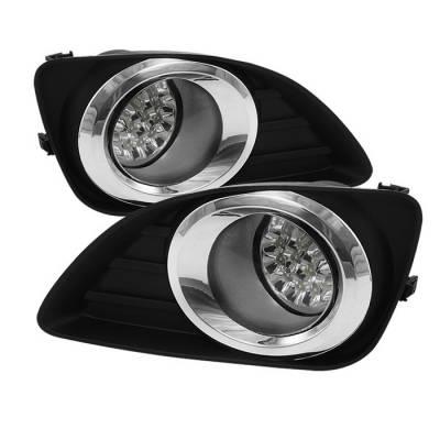 Spyder - Toyota Camry Spyder LED Fog Lights - Clear - FL-LED-TCAM2010-C