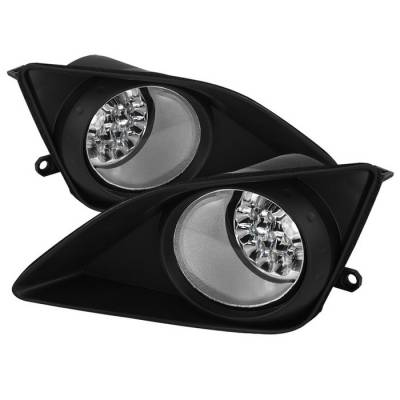 Spyder - Toyota Corolla Spyder LED Fog Lights - Clear - FL-LED-TCO08-C