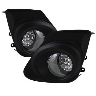Spyder - Toyota Corolla Spyder LED Fog Lights - Clear - FL-LED-TCO2011-C