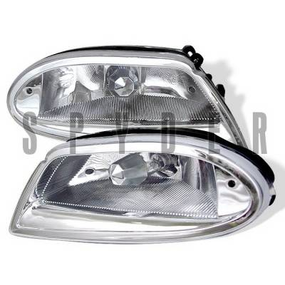 Spyder Auto - Mercedes-Benz ML Spyder Fog Lights - Chrome - FL-MBW16398