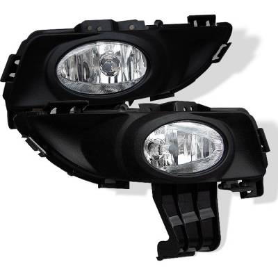 Spyder - Mazda 3 4DR Spyder OEM Fog Lights - Clear - FL-MM304