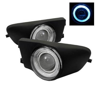 Spyder - BMW 5 Series Spyder Halo Projector Fog Lights - Clear - FL-P-BE3996-HL