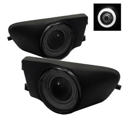 Spyder - BMW 5 Series Spyder Halo Projector Fog Lights - Smoke - FL-P-BE3996-HL-SM