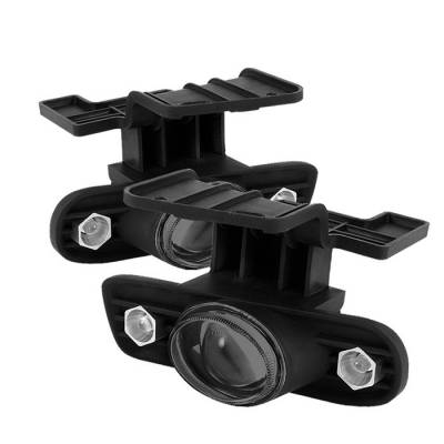 Spyder - Chevrolet Suburban Spyder Halo Projector Fog Lights - Smoke - FL-P-CS99-HL-SM