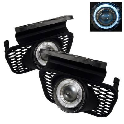 Spyder - Chevrolet Silverado Spyder Halo Projector Fog Lights - Clear - FL-P-CSIL03-HL