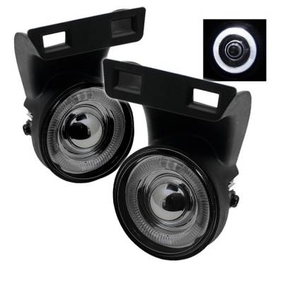 Spyder - Dodge Ram Spyder Halo Projector Fog Lights - Smoke - FL-P-DRAM94-HL-SM