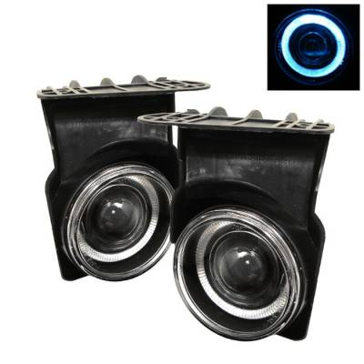 Spyder - GMC Sierra Spyder Halo Projector Fog Lights - Clear - FL-P-GS03-HL