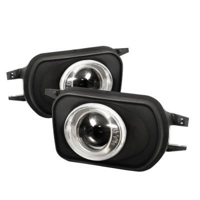 Spyder - Mercedes-Benz SLK Spyder Projector Fog Lights - Clear - FL-P-MBW20301-HL