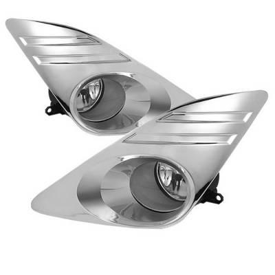 Spyder - Toyota Camry Spyder OEM Fog Lights - Clear - FL-TCAM2012-CH