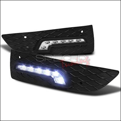 Spec-D - Honda Accord 2DR Spec-D LED Daytime Running Light Fog Light Cover - LDR-ACD032-RS