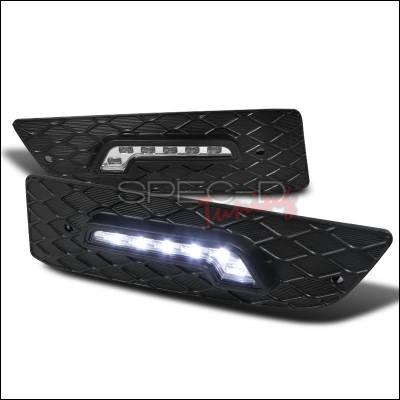 Spec-D - Honda Accord 2DR Spec-D LED Daytime Running Light Fog Light Cover - LDR-ACD062-RS