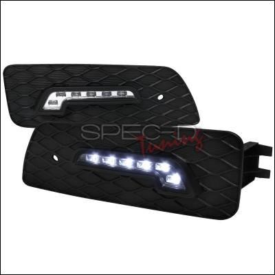 Spec-D - Honda Accord 4DR Spec-D LED Daytime Running Light Fog Light Cover - LDR-ACD064-RS