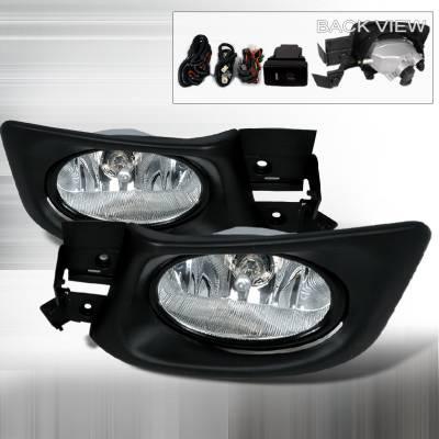 Spec-D - Honda Accord 4DR Spec-D OEM Fog Lights - Clear - LF-ACD034OEM