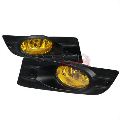 Spec-D - Honda Accord 2DR Spec-D Fog Lights - Yellow - LF-ACD062AMOEM