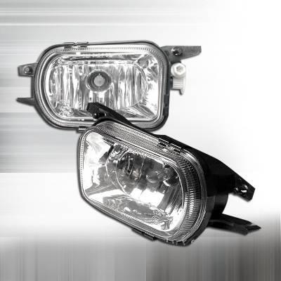 Spec-D - Mercedes-Benz C Class Spec-D Crystal Fog Lights - Clear - LF-BW20301