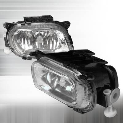 Spec-D - Mercedes-Benz E Class Spec-D Crystal Fog Lights - Clear - LF-BW21096
