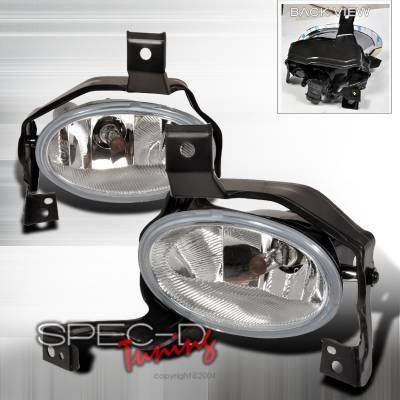 Spec-D - Honda CRV Spec-D OEM Style Fog Lights without Chrome Cover - LF-CRV10CR