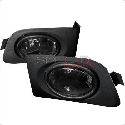 Spec-D - Honda Civic Spec-D OEM Fog Lights - Smoke - LF-CV01GOEM
