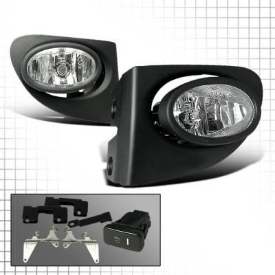 Spec-D - Honda Civic HB Spec-D OEM Fog Lights - Clear - LF-CV023OEM