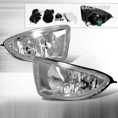 Spec-D - Honda Civic Spec-D OEM Fog Lights - Clear - LF-CV04OEM