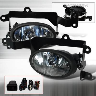 Spec-D - Honda Civic 2DR Spec-D OEM Fog Lights - Clear - LF-CV062OEM