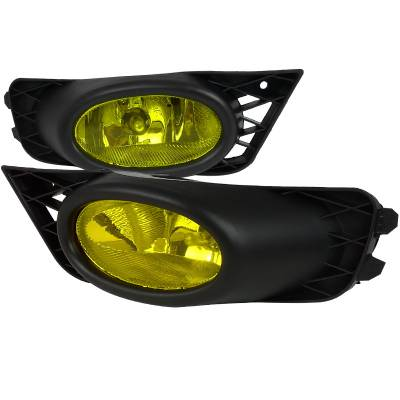Spec-D - Honda Civic 4DR Spec-D Fog Lights - Yellow - LF-CV094AMOEM-RS