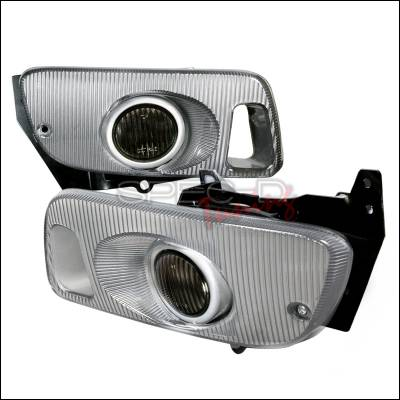 Spec-D - Honda Civic 2DR & 3DR Spec-D OEM Style Fog Lights with Carbon Cover Smoke - LF-CV923GOEM