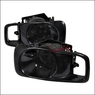 Spec-D - Honda Civic Spec-D OEM Style Fog Lights with Carbon Fiber Fog Cover - Smoke - LF-CV99GOEM