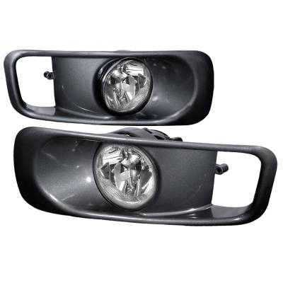 Spec-D - Honda Civic Spec-D OEM Fog Lights with Gray Cover - Clear Lens - LF-CV99OEM-WJ