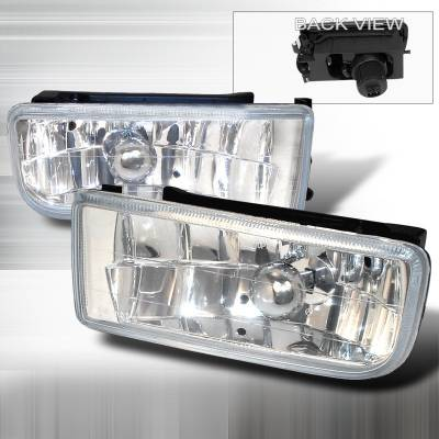Spec-D - BMW 3 Series Spec-D Crystal Fog Lights - Clear - LF-E3692