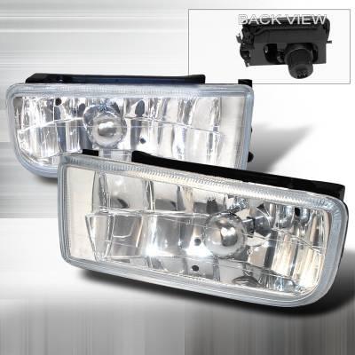 Spec-D - BMW 3 Series Spec-D Crystal Fog Lights - Clear - LF-E3692