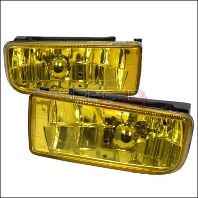 Spec-D - BMW 3 Series Spec-D Crystal Fog Lights - Yellow - LF-E3692AM