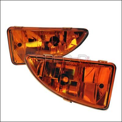 Spec-D - Ford Focus Spec-D OEM Fog Lights - Yellow - LF-FOC00AMOEM