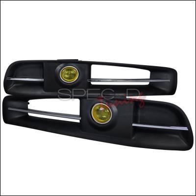 Spec-D - Infiniti G35 2DR Spec-D Fog Light Kit - Yellow - LF-G35032AM-RS