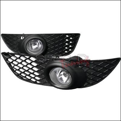 Spec-D - Mitsubishi Lancer Spec-D OEM Style Fog Lights - Clear - LF-LAN08OEM