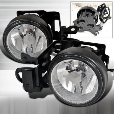 Spec-D - Mitsubishi Montero Spec-D OEM Style Fog Lights - Clear - LF-MTRS00COEM-APC