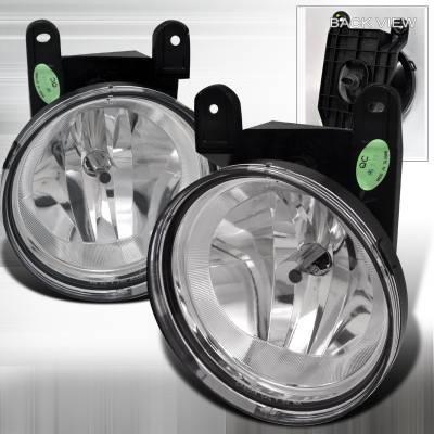 Spec-D - Lincoln Navigator Spec-D OEM Style Fog Lights - Clear - LF-NAV98COEM-APC