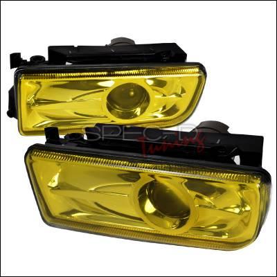 Spec-D - BMW 3 Series Spec-D Projector Fog Lights - Yellow - LFP-E3692AM