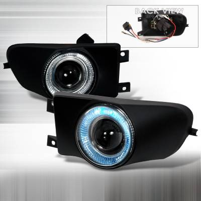 Spec-D - BMW 5 Series Spec-D Projector Fog Lights - Clear - LFP-E3997H-YL