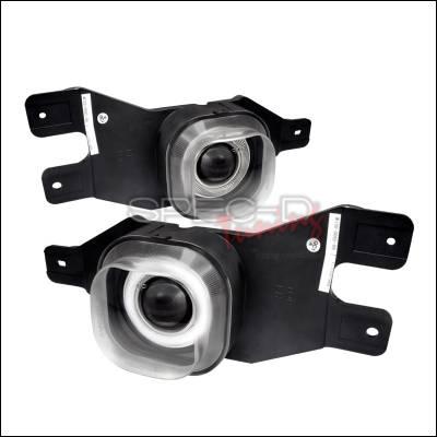 Spec-D - Ford F250 Spec-D Halo Projector Fog Lights - Clear - LFP-F25099H-WJ