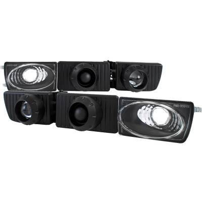 Spec-D - Volkswagen Golf Spec-D Projector Fog Lights with Bumper Lights - LFP-GLF93JM-APC