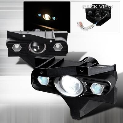Spec-D - Ford Mustang Spec-D Projector Fog Lights - Clear - LFP-MST99-YL