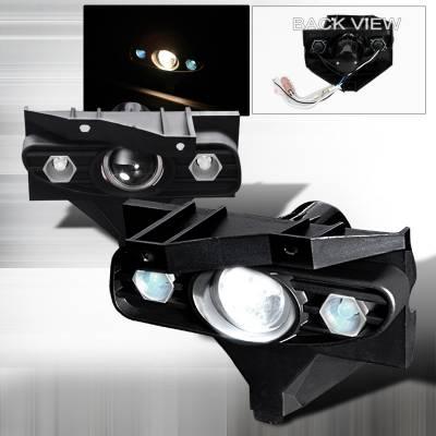 Spec-D - Ford Mustang Spec-D Projector Fog Lights - Clear - LFP-MST99-YL