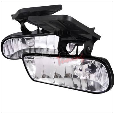 Spec-D - GMC Sierra Spec-D Fog Light Kit - Clear Lens - LF-SIE99COEM-HZ